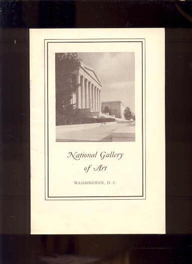Image for NATIONAL GALLERY OF ART 1962 Guide to the Galleries