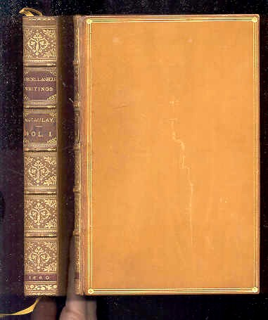 Image for THE MISCELLANEOUS WRITINGS OF LORD MACAULAY  (Complete in 2 Volumes)
