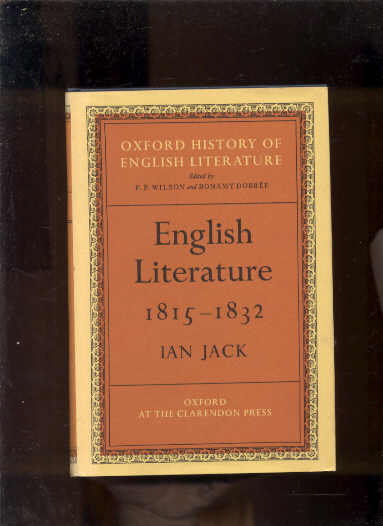 Image for ENGLISH LITERATURE 1815-1832 (OXFORD HISTORY OF ENGLISH HISTORY)
