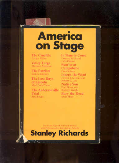Image for AMERICA ON STAGE: TEN GREAT PLAYS OF AMERICAN HISTORY