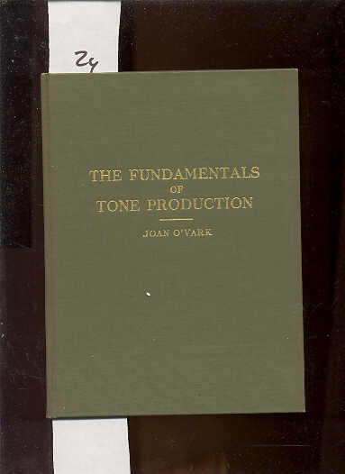Image for THE FUNDAMENTALS OF TONE PRODUCTION