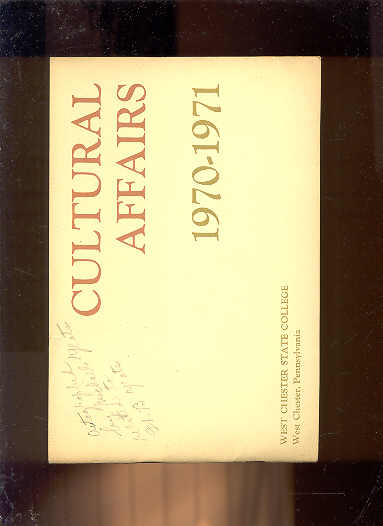 Image for CULTURAL AFFAIRS 1970-1971