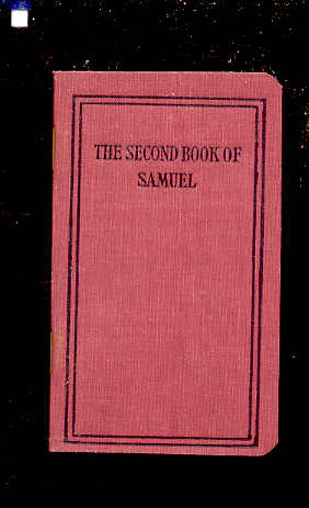 Image for SECOND BOOK OF SAMUEL Translated out of the Original Hebrew and with the Former Translations Diligently Compared and Revised