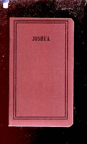 Image for BOOK OF JOSHUA Translated out of the Original Hebrew and with the Former Translations Diligently Compared and Revised