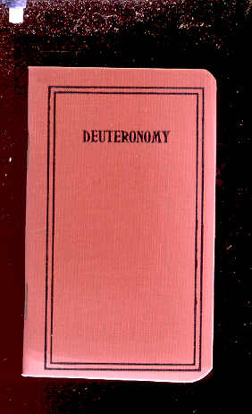 Image for FIFTH BOOK OF MOSES CALLED DEUTERONOMY Translated out of the Original Hebrew and with the Former Translations Diligently Compared and Revised