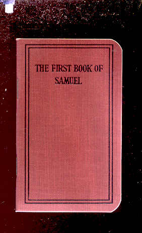 Image for FIRST BOOK OF SAMUEL Translated out of the Original Hebrew and with the Former Translations Diligently Compared and Revised