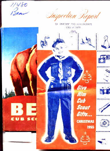 Image for BEAR CUB SCOUT BOOK Christmas and Inspection brochures