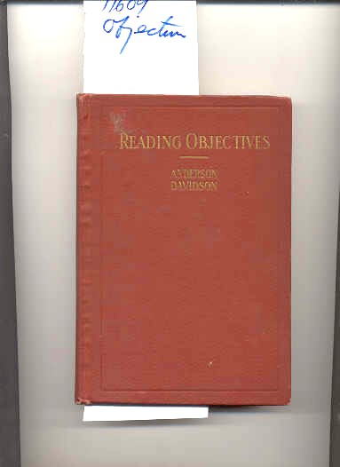 Image for READING OBJECTIVES: A GUIDE BOOK IN THE TEACHING OF READING