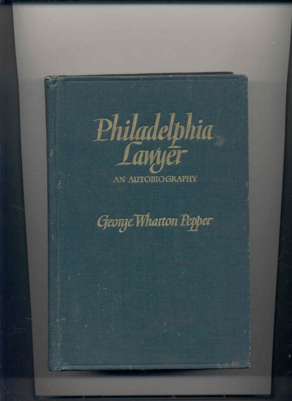 Image for PHILADELPHIA LAWYER: AN AUTOBIOGRAPHY