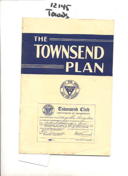 Image for THE TOWNSEND PLAN The Plan before Congress
