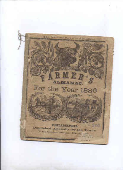 Image for AGRICULTURE FARMERS' ALMANAC, FOR THE YEAR 1886