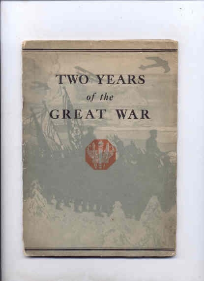 Image for TWO YEARS OF THE GREAT WAR