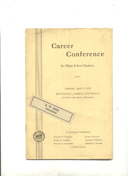 Image for CAREER CONFERENCE FOR HIGH SCHOOL STUDENTS mitten hall, temple university