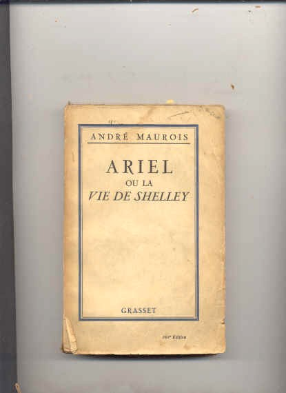 Image for ARIEL OU LA VIE DE SHELLEY