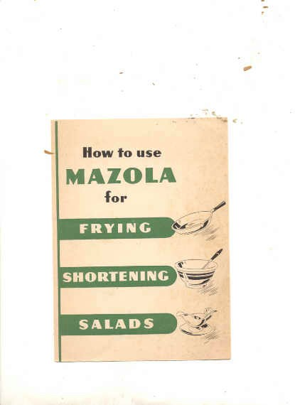 Image for HOW TO USE MAZOLA FOR FRYING, SHORTENING, SALADS