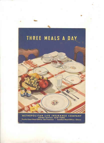 Image for THREE MEALS A DAY