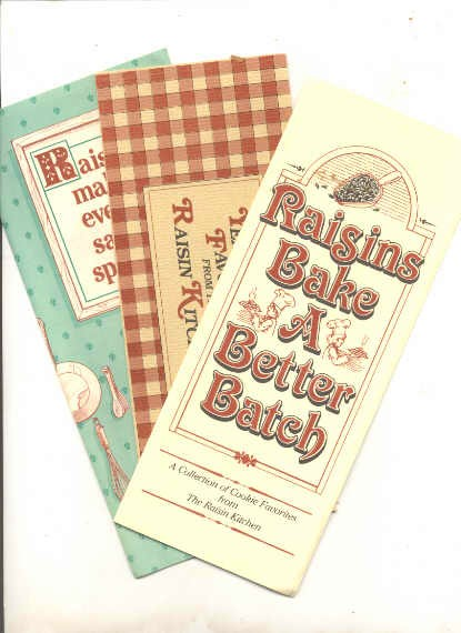 Image for RAISINS MAKE EVERY SALAD SPECIAL ; ; RAISINS BAKE A BETTER BATCH; ; YEAST BREAD FAVORITES FROM THE RAISIN KITCHEN  ( 3 Brochures)