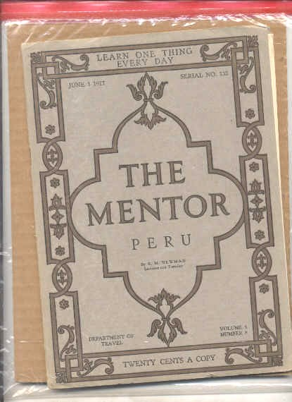 Image for THE MENTOR, VOLUME 5, NUMBER 8: PERU JUNE 1, 1917