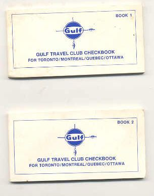 Image for GULF TRAVEL CLUB CHECKBOOK FOR TORONTO/MONTREAL/QUEBEC/OTTAWA Books 1 and 2