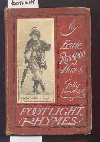 Image for FOOTLIGHT RHYMES  (Theater Facsimiles)