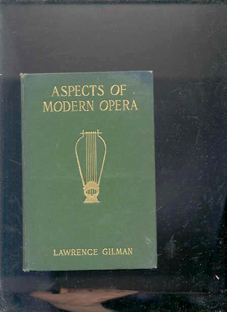 Image for ASPECTS OF MODERN OPERA: ESTIMATES AND INQUIRIES