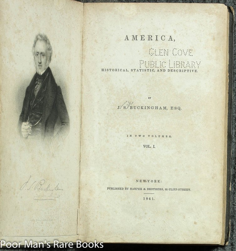 Image for America, Historical, Statistic, And Descriptive 2 Vols Ct Buckingham, , J. S. Woodcuts 1838