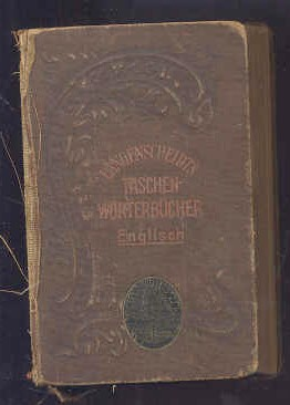 Image for POCKET-DICTIONARY OF THE ENGLISH AND GERMAN LANGUAGES : LANGENSCHEIDTS TASCHEN-WURTEBUCHER ENGLISCH