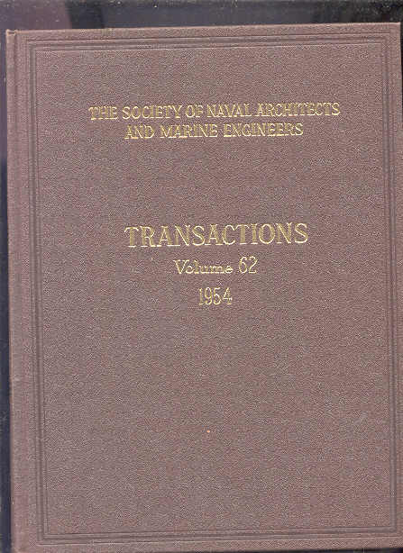 Image for transactions, vol 62, 1954 (complete in two volumes)