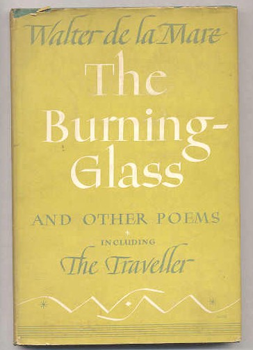 Image for THE BURNING GLASS AND OTHER POEMS , INCLUDING THE TRAVELLER