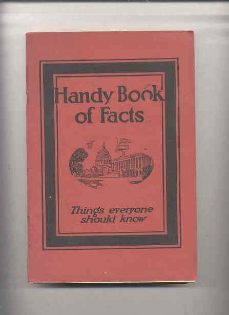 Image for HANDY BOOK OF FACTS