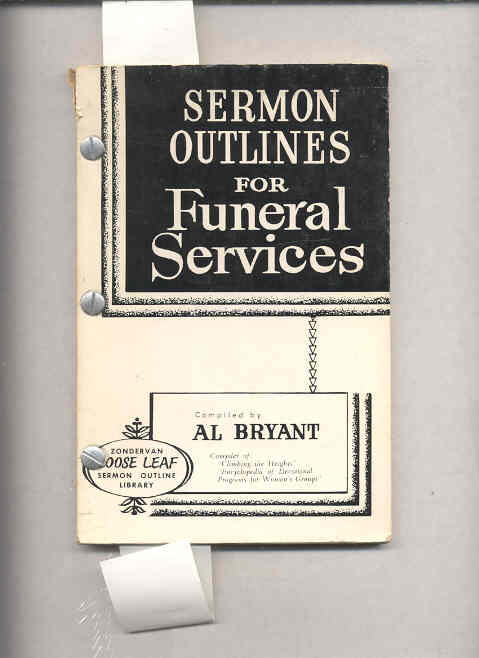 Image for SERMON OUTLINES FOR FUNERAL SERVICES