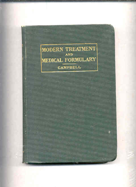 Image for HANDBOOK OF MODERN TREATMENTS AND MEDICAL FORMULARY