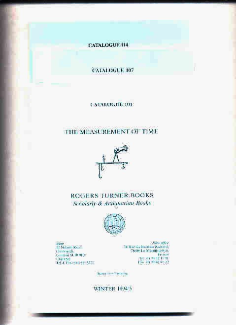 Image for THE MEASUREMENT OF TIME  (3 Catalogues 101 1994/5, 107 1996, 114 1999)