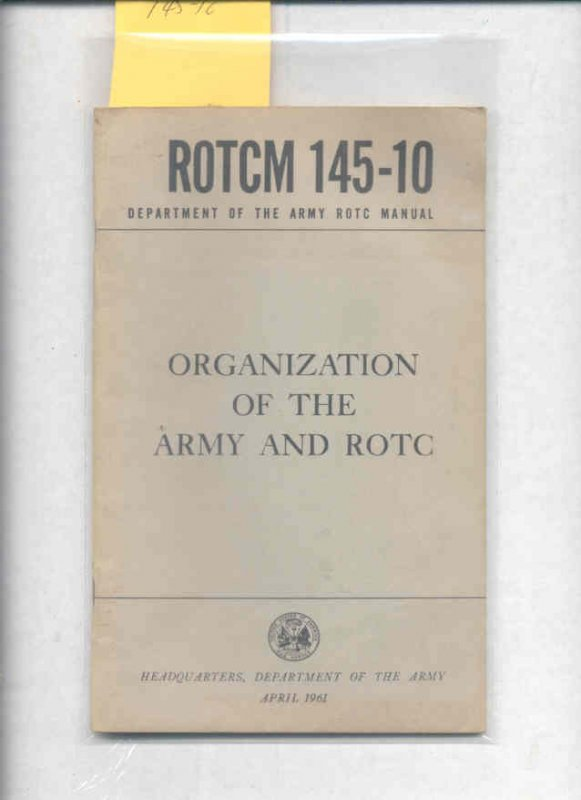 Image for ROTCM 145-10 (1961) ORGANIZATION OF THE ARMY AND ROTC