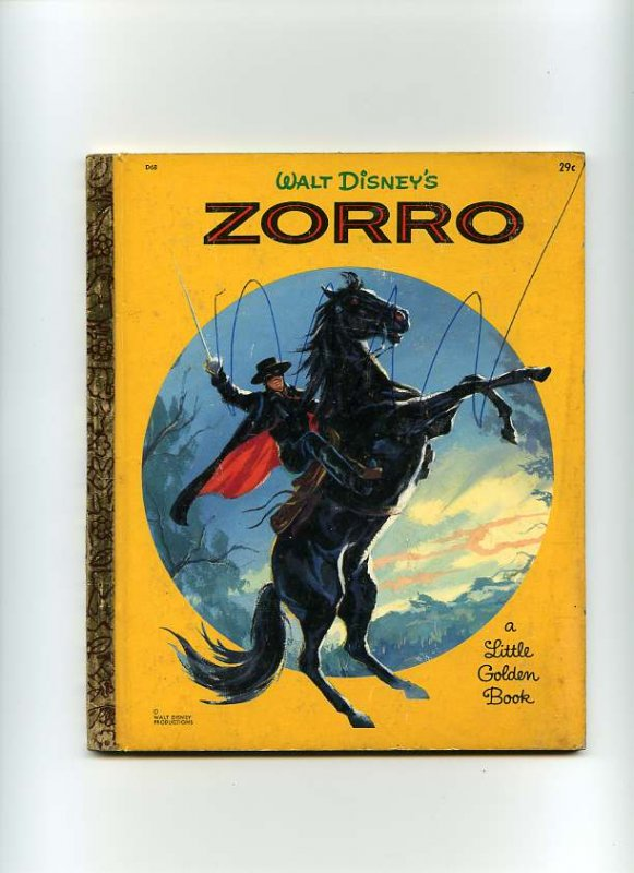 Image for WALT DISNEYS ZORRO AND THE SECRET PLAN, ADAPTED FROM THE WALT DISNEY TELEVISION SERIES, A LITTLE GOLDEN BOOK Book #D68