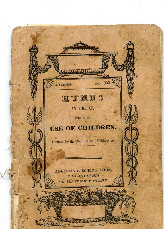 Image for HYMNS IN PROSE FOR CHILDREN IX Series No. 930 Revised by Committee of Publication