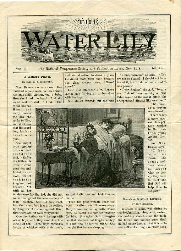Image for THE WATER LILLY, VOL XIV NO. 1, NOV 1897 The Natinal Temperance Society and Publication House, New York