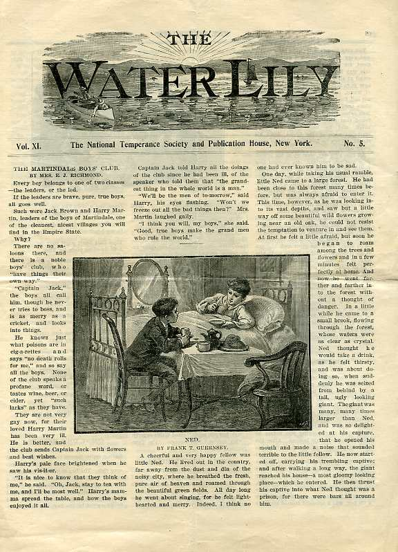 Image for THE WATER LILLY, VOL XI NO. 5, MAY 1898 The Natinal Temperance Society and Publication House, New York