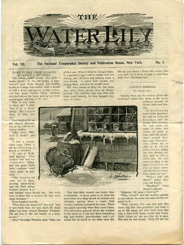 Image for THE WATER LILLY, VOL XII, NO. 3 MARCH 1899 The Natinal Temperance Society and Publication House, New York