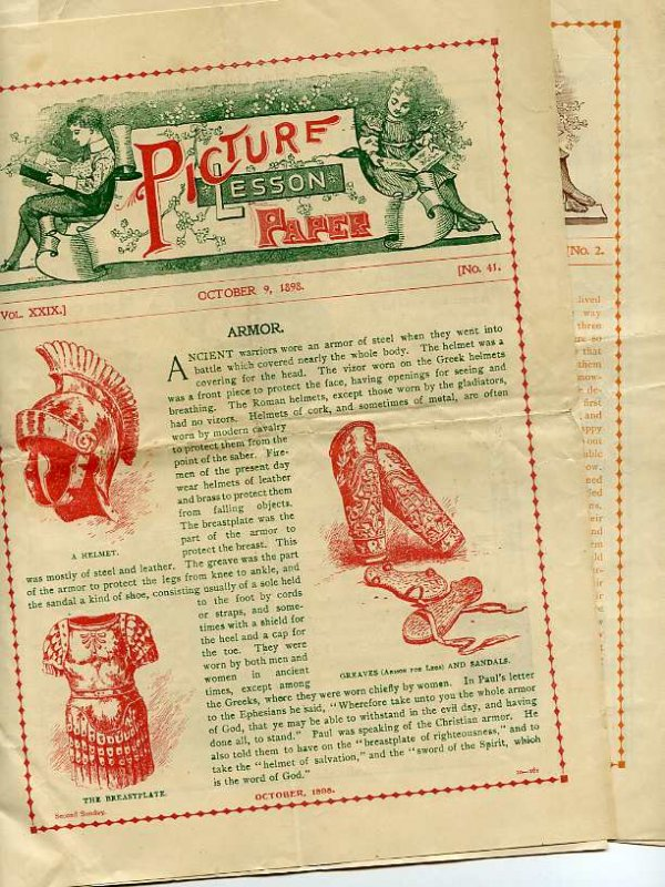 Image for PICTURE LESSON PAPER March, April and October 1898, January 1899
