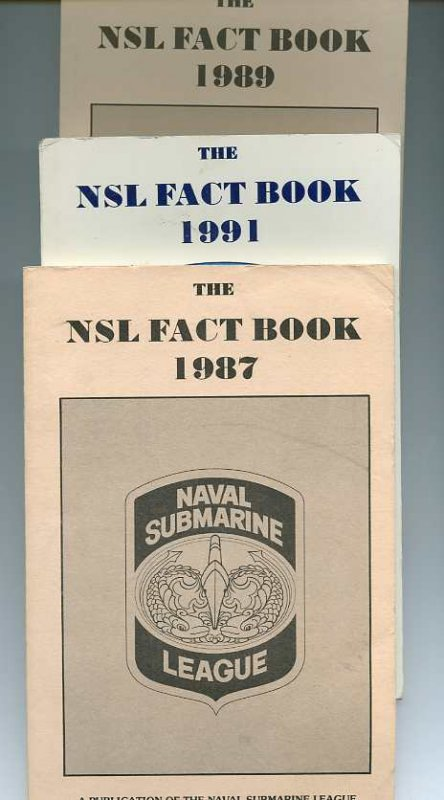 Image for THE NSL FACT BOOK, 1987, 1991, 1989 3 Annual Issues