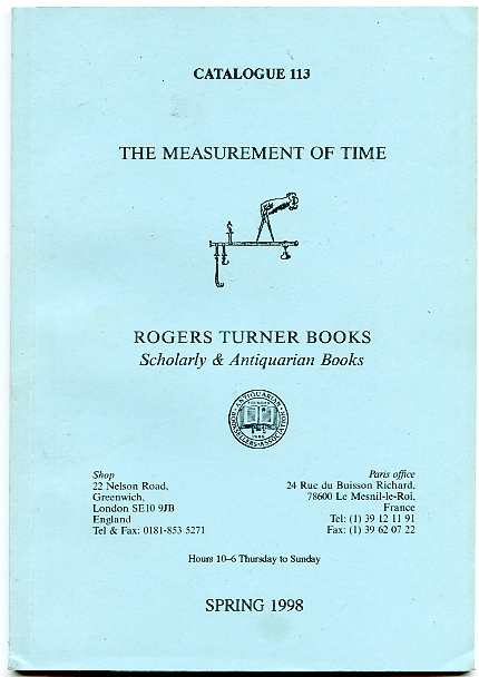 Image for THE MEASUREMENT OF TIME Catalogue 113 Spring 1998