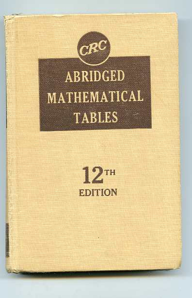 Image for ABRIDGED MATHEMATICAL TABLES