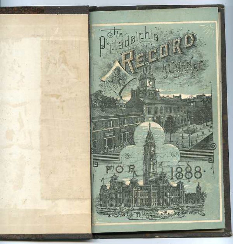 Image for THE PHILADELPHIA RECORD ALMANACFOR 1888