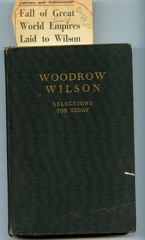 Image for WOODROW WILSON: SELECTIONS FOR TODAY