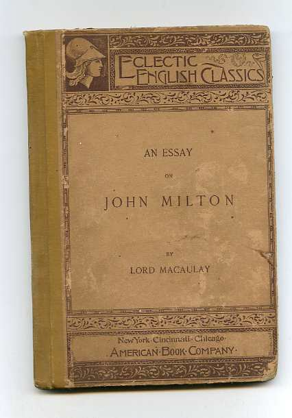 Image for AN ESSAY ON JOHN MILTON
