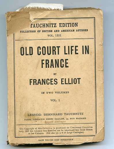 Image for OLD COURT LIFE IN FRANCE