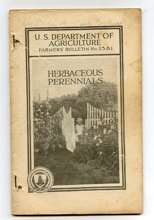 Image for HERBACEOUS PERENNIALS : FARMERS BULLETIN NO. 1381