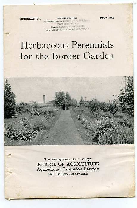 Image for HERBACEOUS PERENNIALS Circular 174