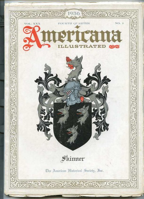 Image for AMERICANA ILLUSTRATED, VOL. 30, NO. 4 FOURTH QUARTER OCTOBER 1936